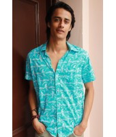 Bird Print Shirt - Men's ...