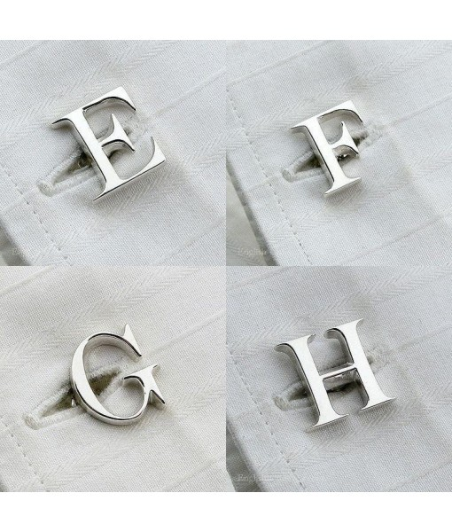 Handcrafted Alphabet Cufflinks - Silver