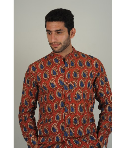 Paisley Motif Shirt - Men's Full Sleeve
