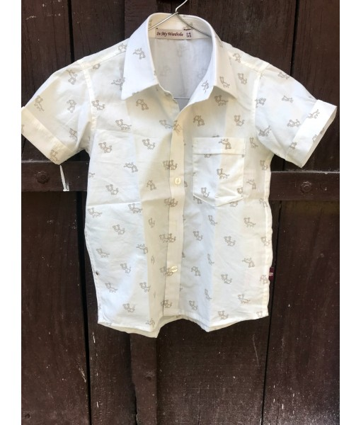 Kids Shirt Dog Print