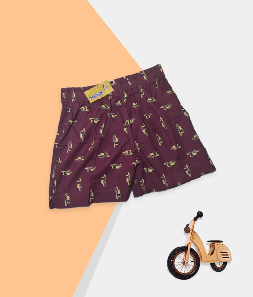 Kid's Shorts - Burgundy