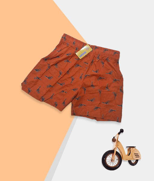Kid's Shorts - Ginger Orange