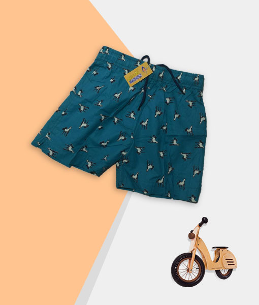 Kid's Shorts - Teal Blue