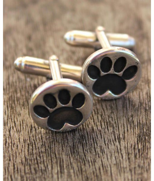 Handcrafted Paw Cufflinks - Sterling Silver ...