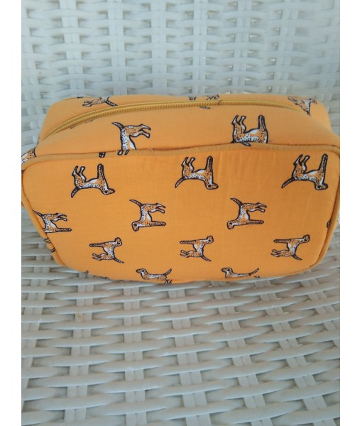 InMyWardrobe Utility Pouch - Dog Print - Yellow Color