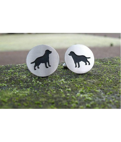 Handcrafted Retriever Cufflinks - Sterling Silver 92.5